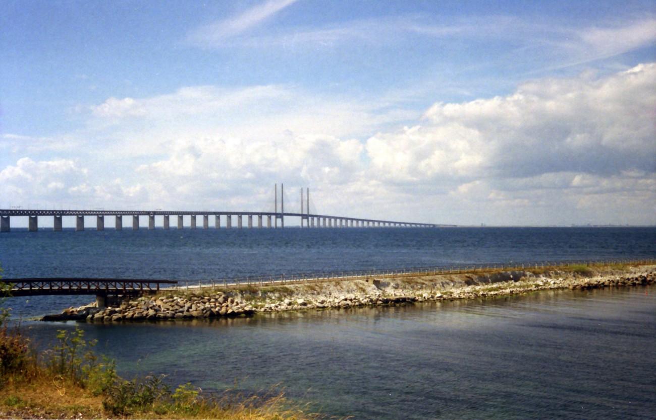 Öresundbrücke von Schweden aus