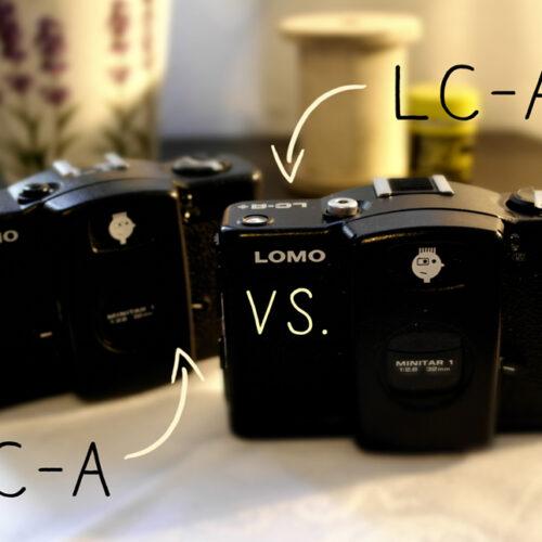 LC-A versus LC-A+ Unterschied Lomography analog Lomoherz