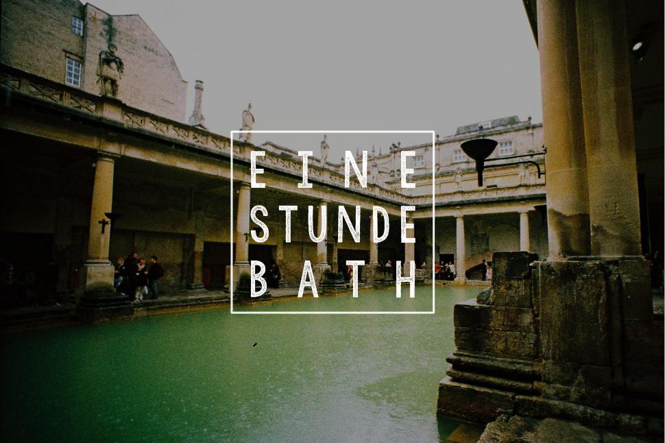Eine Stunde Bath England analog Lomoherz