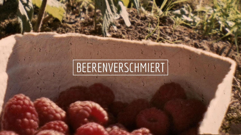 Beeren pflücken Beerenverschmiert Lomoherz
