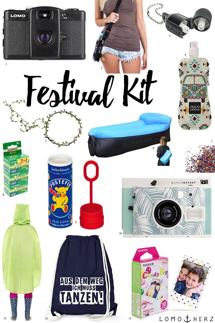 Analog Verreisen Festival Kit (c) Lomoherz