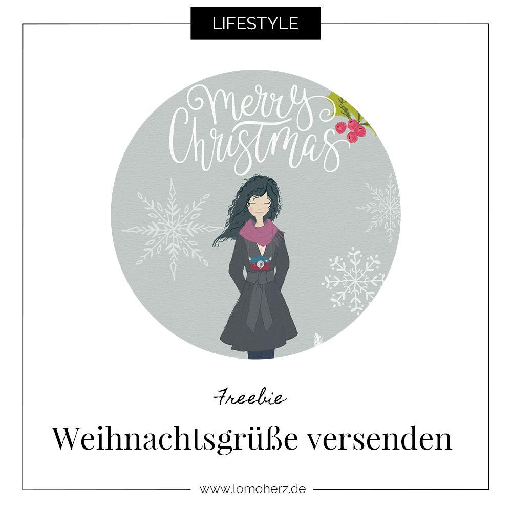 Freebie Weihnachtskarte