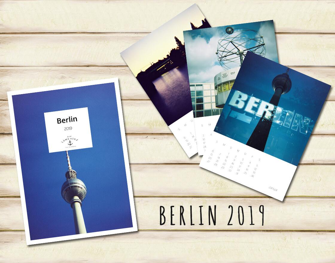Kalender Calendar 2019 Lomoherz Berlin Lomography