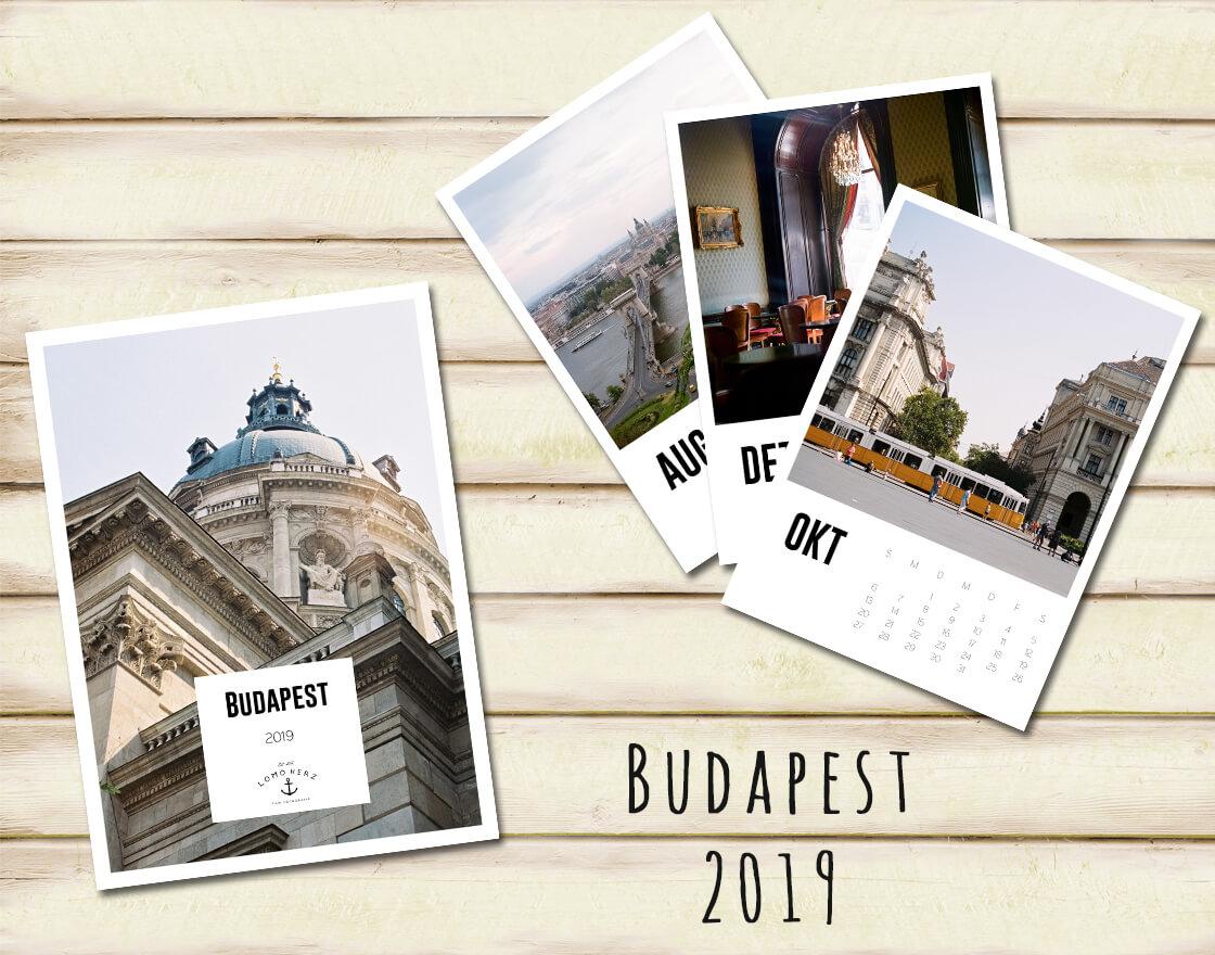 Kalender Calendar 2019 Lomoherz Budapest