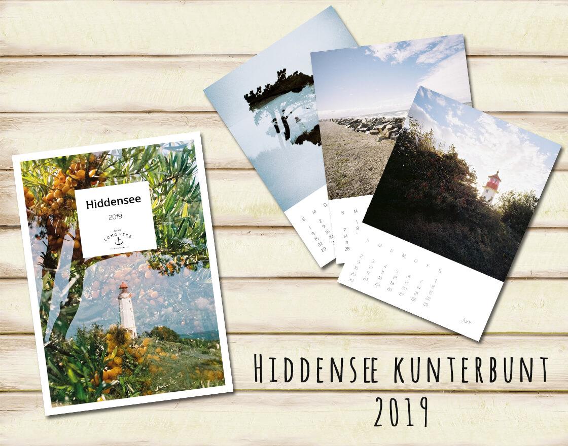 Kalender Calendar 2019 Lomoherz Hiddensee Lomo