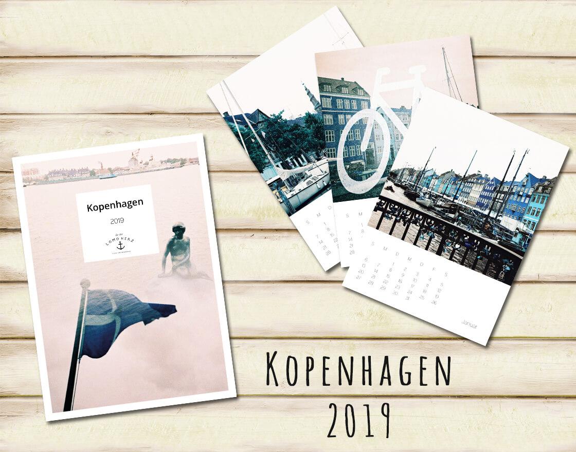 Kalender Calendar 2019 Lomoherz Kopenhagen
