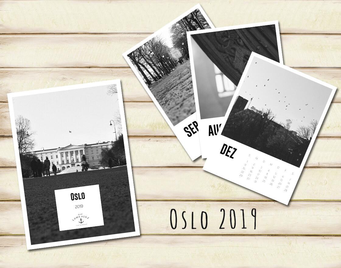 Kalender Calendar 2019 Lomoherz Oslo